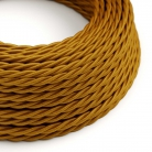 TM05 Gold Twisted Rayon Electrical Fabric Cloth Cord Cable