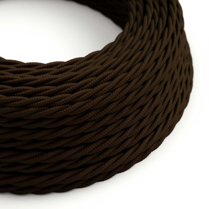 TM13 Brown Twisted Rayon Electrical Fabric Cloth Cord Cable