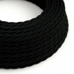 TM04 Black Twisted Rayon Electrical Fabric Cloth Cord Cable