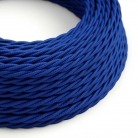 TM12 Blue Twisted Rayon Electrical Fabric Cloth Cord Cable
