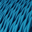 TM11 Turquoise Twisted Rayon Electrical Fabric Cloth Cord Cable