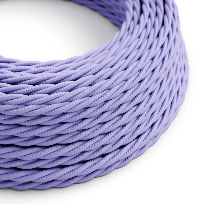 TM07 Lilac Twisted Rayon Electrical Fabric Cloth Cord Cable