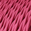 TM08 Fuchsia Twisted Rayon Electrical Fabric Cloth Cord Cable