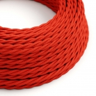 TM09 Red Twisted Rayon Electrical Fabric Cloth Cord Cable
