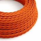 TM15 Orange Twisted Rayon Electrical Fabric Cloth Cord Cable