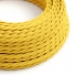 TM10 Yellow Twisted Rayon Electrical Fabric Cloth Cord Cable