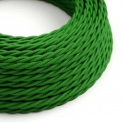 TM06 Green Twisted Rayon Electrical Fabric Cloth Cord Cable