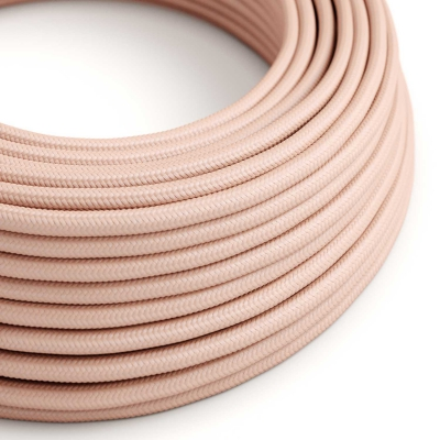 RM16 Baby Pink Round Rayon Electrical Fabric Cloth Cord Cable