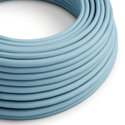 RM17 Baby Azure Round Rayon Electrical Fabric Cloth Cord Cable