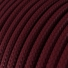 RM19 Burgundy Round Rayon Electrical Fabric Cloth Cord Cable