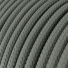 RM03 Grey Round Rayon Electrical Fabric Cloth Cord Cable