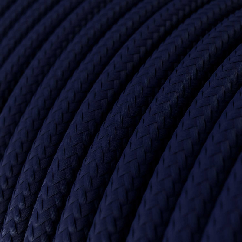 RM20 Dark Blue Round Rayon Electrical Fabric Cloth Cord Cable