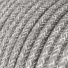 RN02 Natural Grey Round Linen Electrical Fabric Cloth Cord Cable