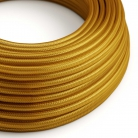 RM05 Gold Round Rayon Electrical Fabric Cloth Cord Cable