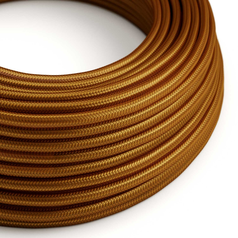 RM22 Whiskey Round Rayon Electrical Fabric Cloth Cord Cable
