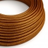 RL22 Copper Glitter Round Rayon Electrical Fabric Cloth Cord Cable