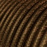 RL13 Brown Glitter Round Rayon Electrical Fabric Cloth Cord Cable