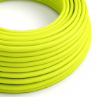 RF10 Neon Yellow Round Rayon Electrical Fabric Cloth Cord Cable