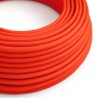 RF15 Neon Orange Round Rayon Electrical Fabric Cloth Cord Cable