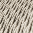 TN01 Natural Neutral Twisted Linen Electrical Fabric Cloth Cord Cable