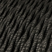 TN03 Natural Anthracite Twisted Linen Electrical Fabric Cloth Cord Cable
