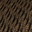 TN04 Natural Brown Twisted Linen Electrical Fabric Cloth Cord Cable
