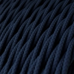 TM20 Dark Blue Solid Twisted Linen Electrical Fabric Cloth Cord Cable