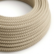 RD63 Colored Bark CrissCross Round Linen & Cotton Electrical Fabric Cloth Cord Cable