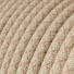 RD61 Ancient Pink CrissCross Round Linen & Cotton Electrical Fabric Cloth Cord Cable