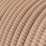 RD71 Ancient Pink ZigZag Round Linen & Cotton Electrical Fabric Cloth Cord Cable