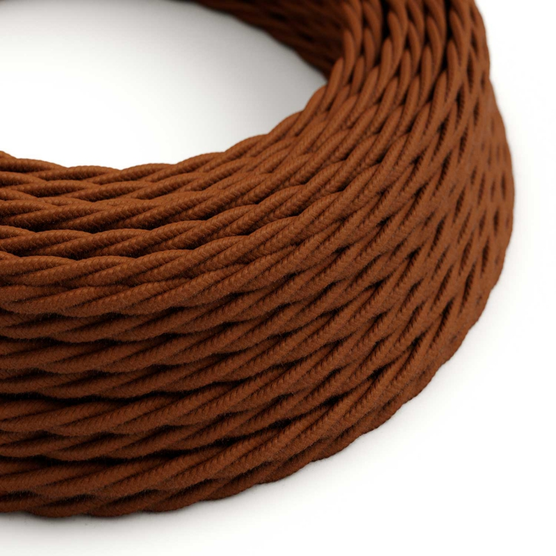 TC23 Deer Solid Twisted Cotton Electrical Fabric Cloth Cord Cable
