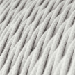 TC01 White Twisted Cotton Electrical Fabric Cloth Cord Cable