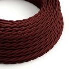 TM19 Burgundy Twisted Rayon Electrical Fabric Cloth Cord Cable