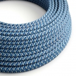 RX03 Pixel Turquoise Round Rayon Electrical Fabric Cloth Cord Cable