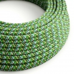 RX05 Pixel Green Round Rayon Electrical Fabric Cloth Cord Cable