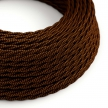 TZ22 Black Whiskey Twisted Rayon Electrical Fabric Cloth Cord Cable