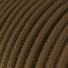 RC13 Brown Round Cotton Electrical Fabric Cloth Cord Cable