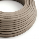 RC43 Dove Round Cotton Electrical Fabric Cloth Cord Cable