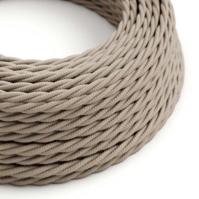 TC43 Dove Twisted Cotton Electrical Fabric Cloth Cord Cable