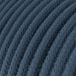 RC30 Stone Grey Round Cotton Electrical Fabric Cloth Cord Cable