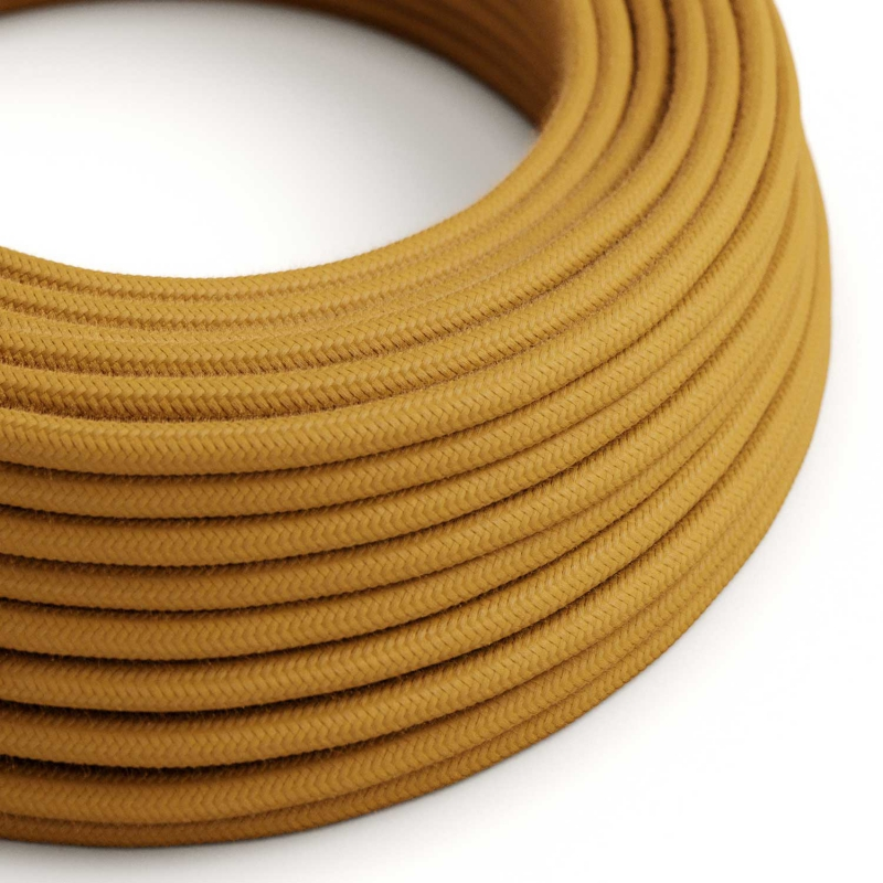 RC31 Golden Honey Round Cotton Electrical Fabric Cloth Cord Cable