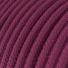 RC32 Burgundy Round Cotton Electrical Fabric Cloth Cord Cable