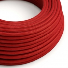 RC35 Fire Red Round Cotton Electrical Fabric Cloth Cord Cable