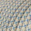 RD65 Steward Blue CrissCross Round Cotton & Linen Electrical Fabric Cloth Cord Cable