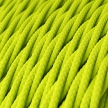 TF10 Neon Yellow Twisted Rayon Electrical Fabric Cloth Cord Cable
