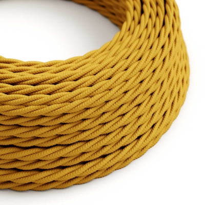 TM25 Mustard Twisted Rayon Electrical Fabric Cloth Cord Cable