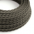 TM26 Dark Grey Twisted Rayon Electrical Fabric Cloth Cord Cable
