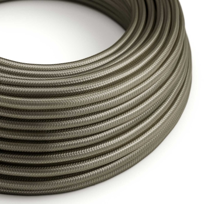 RM26 Dark Grey Round Rayon Electrical Fabric Cloth Cord Cable