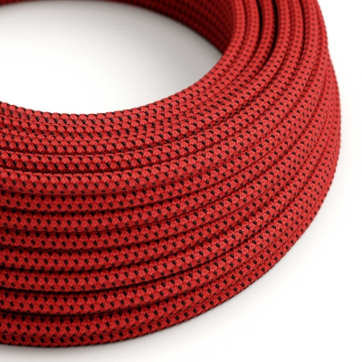 RT94 Red Devil 3D Round Rayon Electrical Fabric Cloth Cord Cable