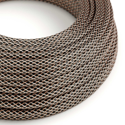 RR03 Bicoloured Copper covered Electrical Fabric Cloth Cord Cable